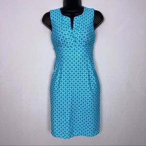 Jude Connally blue white chain link dress XS